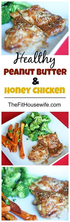 Peanut Butter and Honey Chicken. The perfect healthy recipe the whole family…