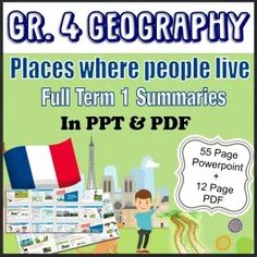 Grade 4 Geography Term where people live_Powerpoint and PDF summaries - Teacha! Class Presentation, Guide Words, 1 Place, Social Science, Summary, Geography, Teaching Resources, Teacher, Classroom