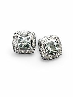 David Yurman Diamond, Prasiolite & Sterling Silver Button Earrings http://www.saksfifthavenue.com/main/ProductDetail.jsp?FOLDER%3C%3Efolder_id=2534374306418141&PRODUCT%3C%3Eprd_id=845524446129791&R=712161752321&P_name=David+Yurman&N=4294912407+306418141&bmUID=kbgOpEJ