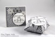 Stampin up - Set Neujahr, Happy New Year, Origami Box, Neujahrskarte, card new year, Stempelset Nostalgische Weihnachten, Antique Tags, Stempelset Flockenzauber, Elementstanze Schneeflocken, Flurry of Wishes, Snow Flurry Punch - Fine Paper Arts