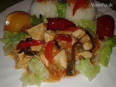 Kuracie prsia so zeleninou a kečupom