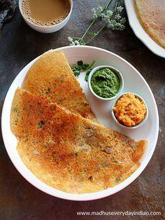 Jowar Recipes, Ragi Dosa, Peanut Chutney, Healthy Granola Bars, Idli Recipe, Savory Crepes, Snack Recipes, Cooking Recipes, Tomato Chutney