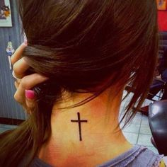 I WANT #cross #tattoo