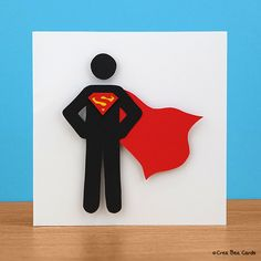 Craft a heroic (Superman) card for Father's Day. Tutorial can be found here: http://creabeacards.com/super-dad-card/