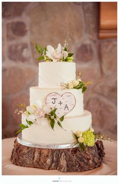 Rustic buttercream cake by Curtis-C-Cakes