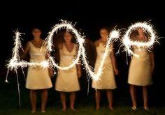 Idea para bodas: luce de bengalas