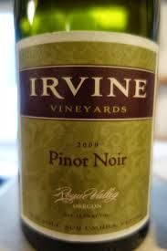 Irvine Vineyards in southern Oregon