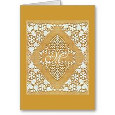 Lacy Monogram Colors Cards
