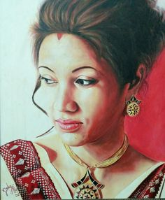 Acrylic Portrait Painting By Debojyoti Boruah