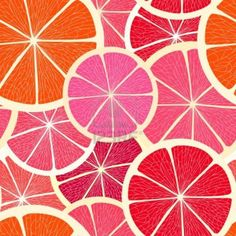 Grapefruit Seamless Background Royalty Free Cliparts, Vectors, And Stock Illustration. Motifs Textiles, Textile Patterns, Pattern Illustration, Art And Illustration, Surface Pattern Design, Pattern Art, Fruit Pattern, Pretty Patterns, Color Patterns