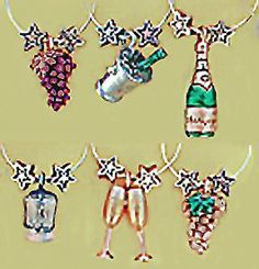 Celebrate! Painted Wine Glass Charms from: that wine is mine! 1413P by Wine Things Unlimited, http://www.amazon.com/dp/B002U9KK9U/ref=cm_sw_r_pi_dp_qy0Trb1ZMVGHK