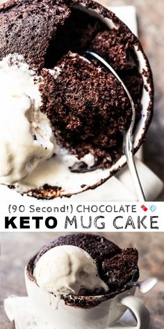 (90 Second!) Paleo & Keto Mug Cake with Chocolate #keto #ketorecipes #ketodiet #paleo #chocolate #mugcake