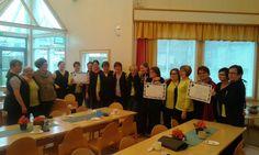Pudasjärven kotihoidon työntekijät tekivät mukavaan työhön liittyviä lupauksia 21.10. Change Day -tapahtumassa.