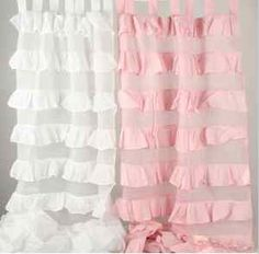 shabby chic nursery | ... Ruffle TAB TOP Curtain Pair Girls Shabby Chic Nursery Decor | eBayLOVELOVELOVE these ruffles :)