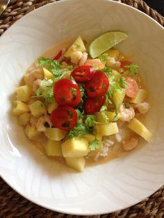 Mango-katkarapu curry nigellan reseptillä tietysti omalla twistillä:)