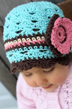 robins egg & cotton candy beanie. perfection