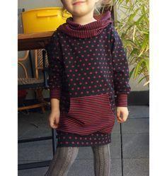 Den Schnitt zum Selbermachen findet ihr im Blog, die Stoffe dazu im Online-Shop https://der-rote-faden.de/de/Stoffe-fuer-Kinder/ #nähen kinder