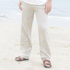 Men's Linen Pants Cream #menslinenpants #linenpants #cream #pants #men