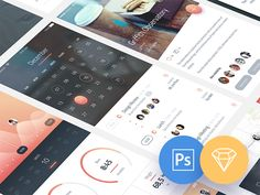 Phoenix UI for iPhone 6 - Free PSD & Sketch