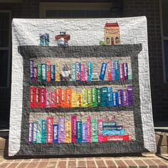(7) Name: 'Quilting : Selvage Bookshelf Quilt - 2