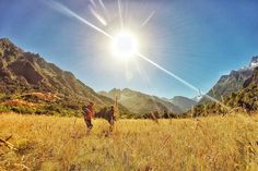 Beautiful sunny valley walks