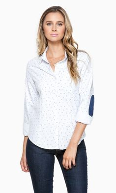 434649e2ec939 OMG - love the elbow patches on this blouse. via ANCHORED IN BLOUSE