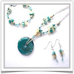 "One-of-a-Kind ""Sea Breeze"" Jewelry Set - Designed by Belle Bijou: http://www.bellebijoujewelry.com/store/detail/index.html#cid=48971"