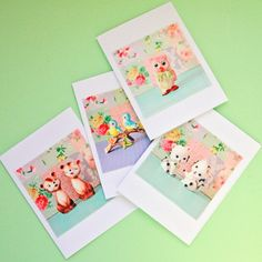 DIY Fabric Photo Note Cards