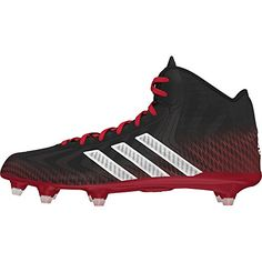 size 40 82089 64df4 adidas Crazyquick Mid Mens Football Cleats 12 Black-White-Red Football  Shoes, Mens