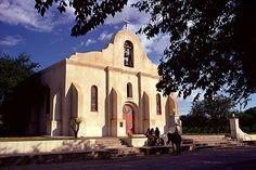 "Presidio Chapel in San Elizario, near El Paso, Texas. Could be a good location for ""Gateway to Mexico."""