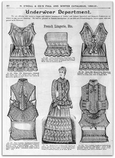 1890-91 Vintage Fashion: H.O'Neills Fall & Winter Catalogue Page 20 - Victorian Lingerie | Flickr - Photo Sharing!
