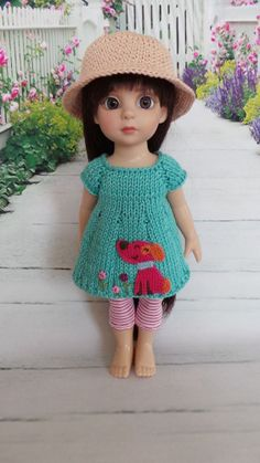 """Hand Knit Outfit for 10"""" Patsy & 10"""" AnnEstelle doll Nr.1"""