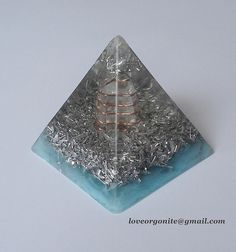 ~ Blue Orgone Pyramid ~:~