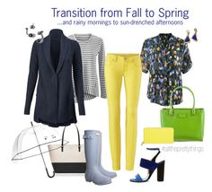 """""""Transition from Fall to Spring '16!"""" by brie-zy on Polyvore featuring CAbi, Kate Spade, Paul Andrew, Hunter and alltheprettythings"""