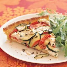 Tomato-Zucchini Tart with Goat Cheese | Williams-Sonoma