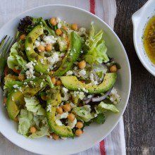 Ultimate Spring Salad with White Balsamic Maple Dressing at laurenslatest.com