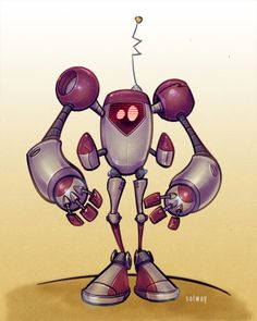 red robot by Jeff Solway