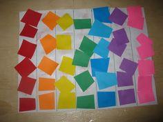 preschool rainbow color sorting activity