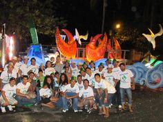 Todo el quipo unido una ves concluido los carnavales de Puntarenas 2013