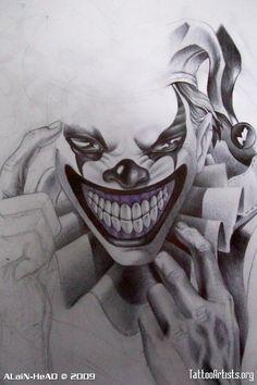 Evil Jester Tattoo : jester, tattoo, Jester, Tattoo, Ideas, Tattoo,, Jester,, Clown