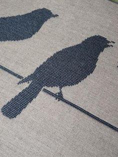 I love one color cross stitch