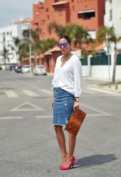 Denim skirt: La falda que tú y yo NECESITAMOS YA!!! | Cuidar de tu belleza es facilisimo.com