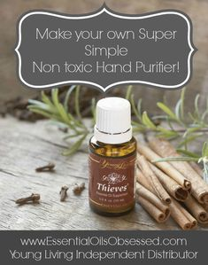 diy Hand Purifier using thieves essential oil