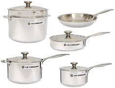 Le Creuset 10-Piece Tri-Ply Stainless Steel Cookware Set ** Click image to review more details. (This is an Amazon affiliate link)