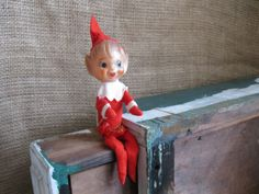 Vintage  Sweet Christmas Elf by ShaneLilyRain on Etsy, $8.00