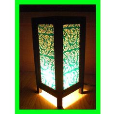 Kanok Design Table Lamp Wood frames & Mulberry paper TBM02