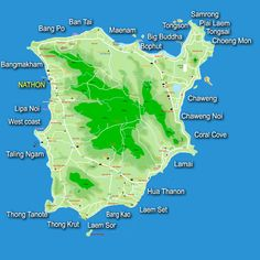 Map of Koh Samui Beaches in Thailand