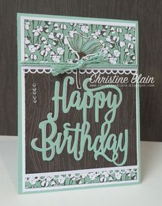 While I'm having a love affair with Stampin' Up!'s Country Lane Designer Series Paper, I thought I'd share the latest card I made with it. Happy Birthday Words, Happy Birthday Gorgeous, Birthday Wishes, Birthday Cards For Women, Heart Cards, Card Sketches, Cool Cards, Flower Cards, Greeting Cards Handmade