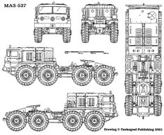 MAZ-535 is a Soviet/Russian army vehicle, an artillery truck designed and developed by MAZ, Minsk automobile plant, Belarus. Designed in the beginning of ...
