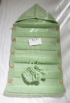 36316fa75b12 Конверт для новорожденного спицами. Подробный мастер-класс по ...